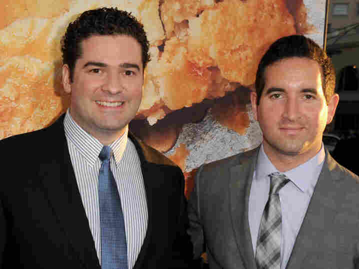 Harold and Kumar directors Jon Hurwitz and Hayden Schlossberg arrive at the premiere of American Reunion at Grauman's Chinese Theatre on March 19 in Hollywood, Calif.
