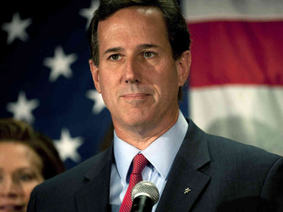 Republican presidential candidate Rick Santorum announced he will be suspending his campaign during a press conference at the Gettysburg Hotel on April 10, 2012 in Gettysburg, Pa. Mitt Romney is now virtually certain to capture the GOP nomination.