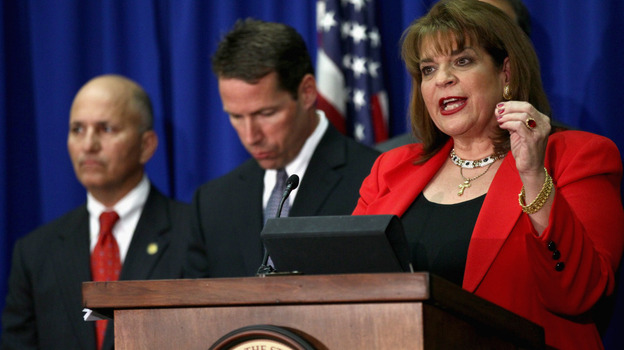 State Attorney Angela Corey announces that George Zimmerman has been arrested and charged with second-degree murder in the shooting death of Trayvon Martin in Florida. (Getty Images)