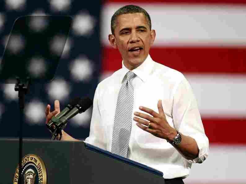 """President Obama makes a case for the tax proposal dubbed the """"Buffett rule"""" Tuesday at Florida Atlantic University in Boca Raton, Fla."""