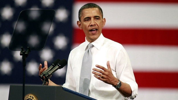 "President Obama makes a case for the tax proposal dubbed the ""Buffett rule"" Tuesday at Florida Atlantic University in Boca Raton, Fla.  (Getty Images)"
