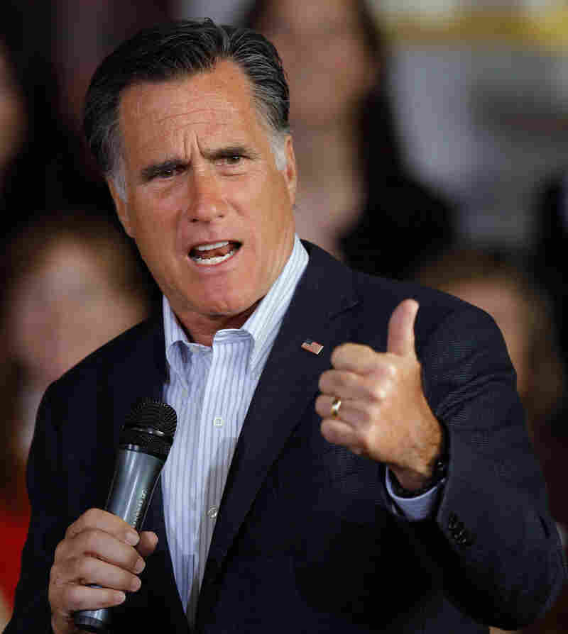 Republican presidential candidate Mitt Romney at a campaign event Tuesday in Wilmington, Del.