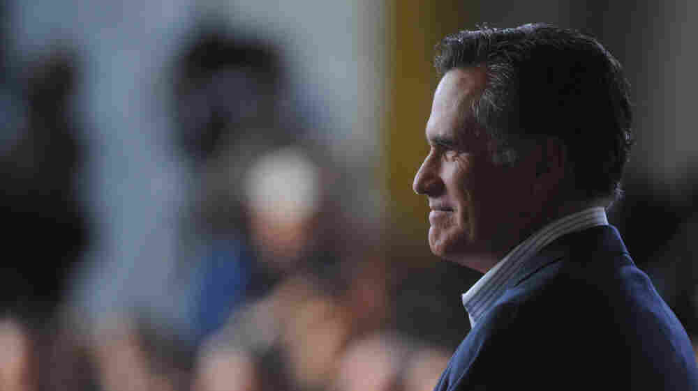 Mitt Romney campaigns Tuesday in Wilmington, Del., the day rival Rick Santorum left the race. On Thursday, two major anti-abortion groups endorsed Romney.