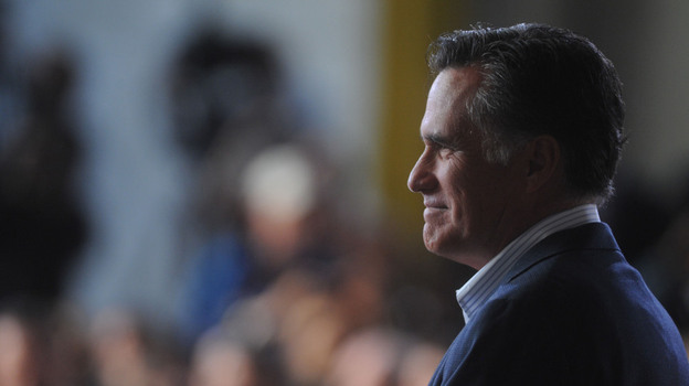 Mitt Romney campaigns Tuesday in Wilmington, Del., the day rival Rick Santorum left the race. On Thursday, two major anti-abortion groups endorsed Romney. (Landov)