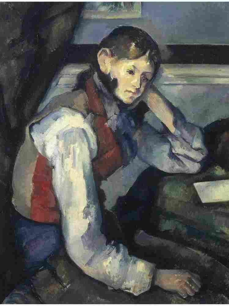 """Paul Cezanne's """"Boy in a Red Waistcoat""""."""