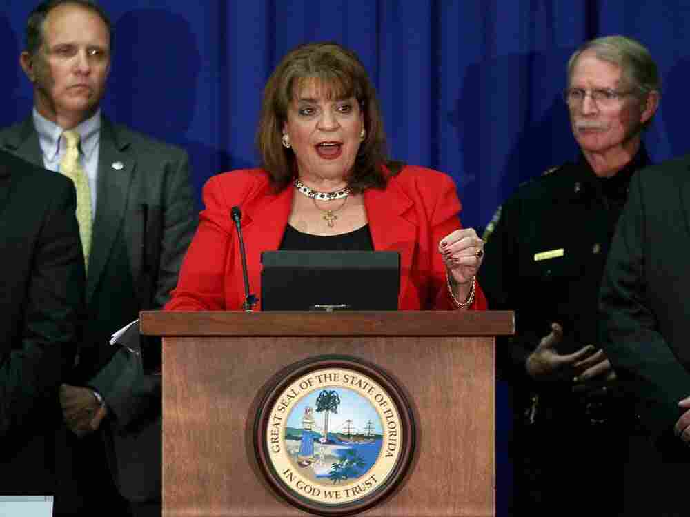 State Attorney Angela Corey holds a news conference to announce second degree murder charges to be brought against defendant George Zimmerman in the Trayvon Martin shooting April 11, 2012 in Jacksonville, Florida. In our first hour, a prosecutor and defense attorney each explain what both sides in the case need to prove in court.