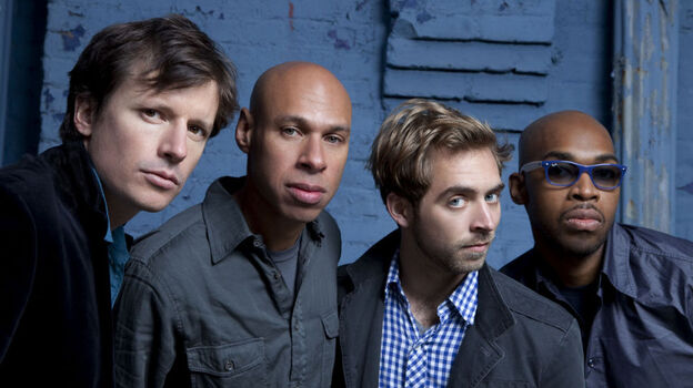 James Farm, left to right: Matt Penman, Joshua Redman, Aaron Parks, Eric Harland. (Jimmy Katz)