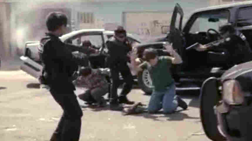 In a video by Our Mexico of the Future, child actors play police, criminals and other adult roles, with the goal of highlighting the challenges facing Mexico.