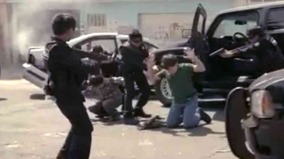 In a video by Our Mexico of the Future, child actors play police, criminals and oth