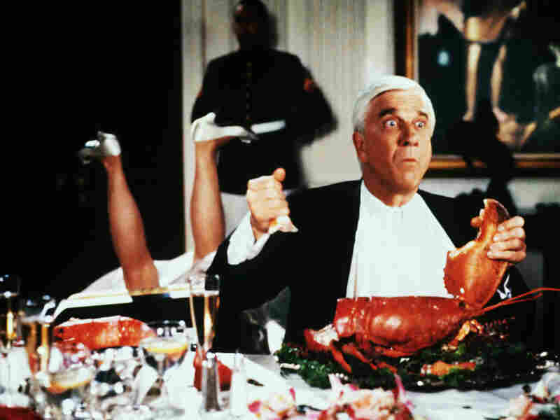 Leslie Nielsen takes a bite out of crime in Naked Gun 2 1/2 — The Smell Of Fear.