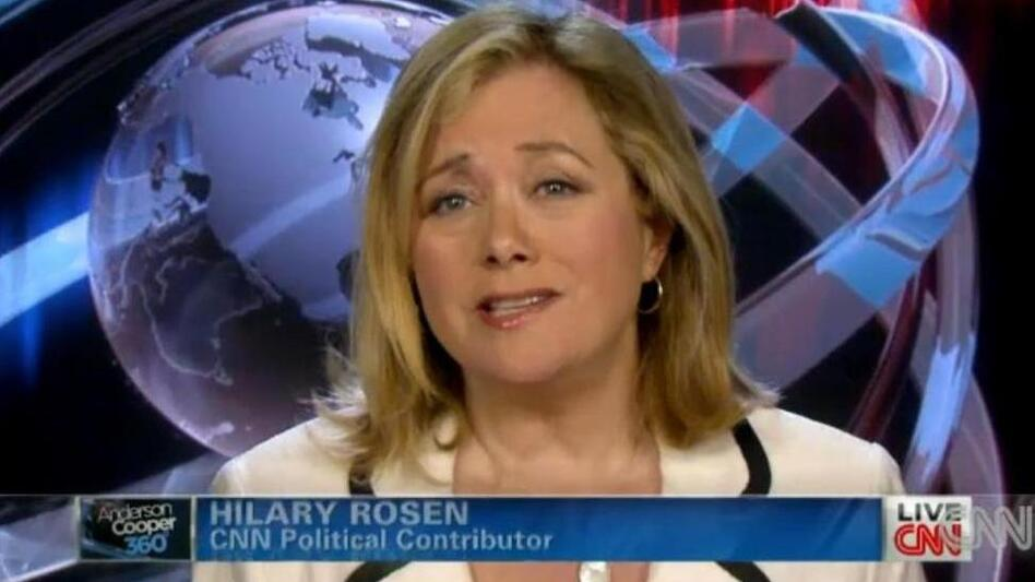 Democratic strategist Hilary Rosen, during her appearance on CNN. (CNN.com)