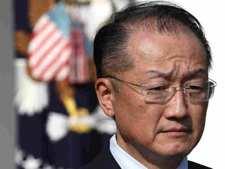 Nominee for president of the World Bank, Dartmouth College President Jim Yong Kim, stands while being announced by U.S. President Barack Obama in the Rose Garden on March 23, 2012 in Washington, DC. Kim, who is seen as a surprise pick, is a Korean born physician that is prominent in global health circles.