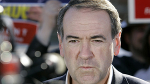 Former GOP presidential candidate Mike Huckabee, seen in Dallas in 2008, once saved a choking colleague.