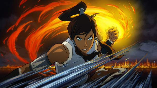 Korra demonstrates fire- and water-bending in  The Legend of Korra, a new series from the creators of Avatar: The Last Airbender. It premieres April 14 on Nickelodeon.
