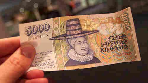 The 5,000 krona note, featuring Ragnheiaur Jonsdottir