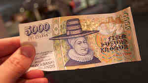 The 5,000 krona note, featuring Ragnheiaur Jonsdottir