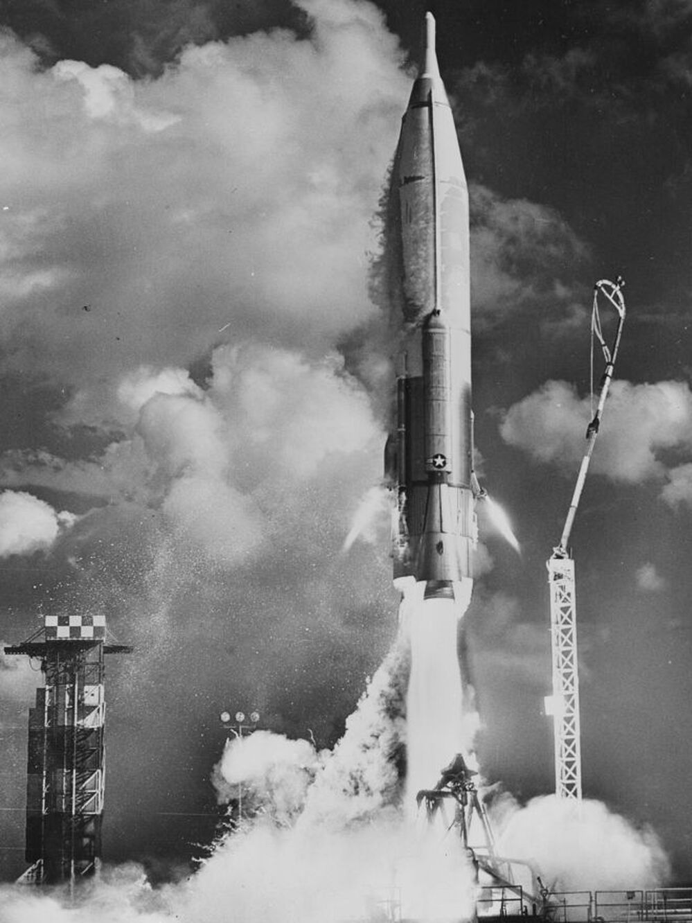 An Atlas missile is launched from Cape Canaveral, Fla. in October 1964. Cape Canaveral has been the site of numerous launch failures as the United States developed missile and rocket technology.