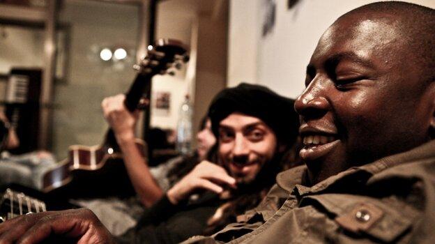 Idan Raichel (left) and Vieux Farka Toure's new collaborative album is  The Tel-Aviv Session.