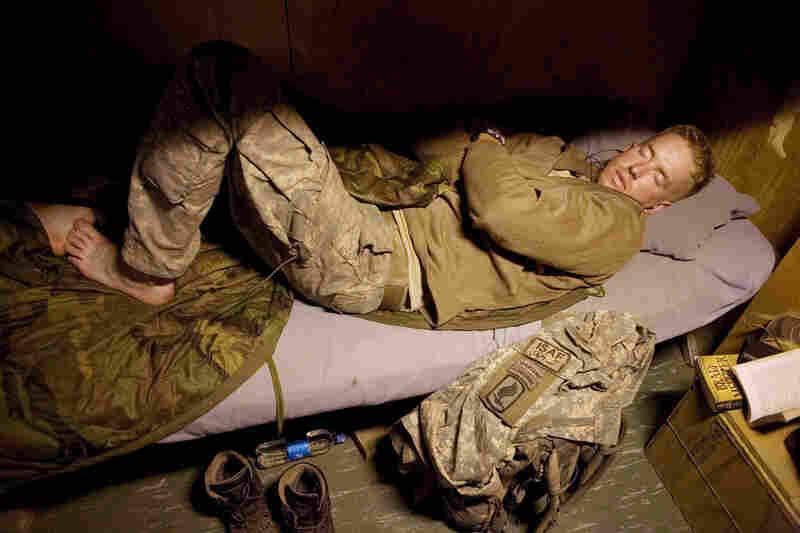 June 2008: Luke Nevala sleeps.