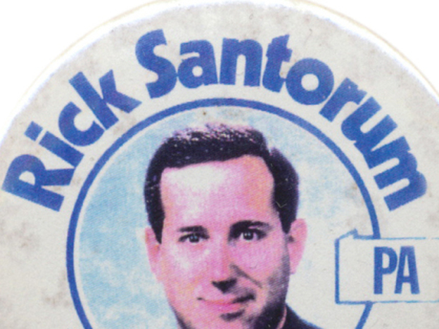 Santorum first won his Senate seat in a great GOP year and lost it 12 years later in a terrible GOP year. (Ken Rudin collection)