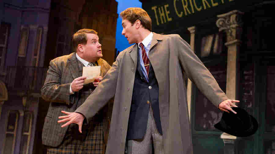 "Adapted from The Servant of Two Masters, the new comedy One Man, Two Guvnors follows the ""always famished and easily confused"" Francis Henshall (James Corden, left), who must combat his own befuddlement while keeping both of his employers — a local gangster and criminal-in-hiding Stanley Stubbers (Oliver Chris) — from meeting."