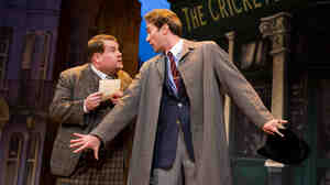 """Adapted from The Servant of Two Masters, the new comedy One Man, Two Guvnors follows the """"always famished and easily confused"""" Francis Henshall (James Corden, left), who must combat his own befuddlement while keeping both of his employers — a local gangster and criminal-in-hiding Stanley Stubbers (Oliver Chris) — from meeting."""
