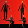 Robots: Ralf Hutter, Henning Schmitz, Fritz Hilpert, and Stefan Pfaffe of the band Kraftwerk perform during the Kraftwerk — Retrospective 1 2 3 4 5 6 7 8 at The Museum of Modern Art on April 10, 201