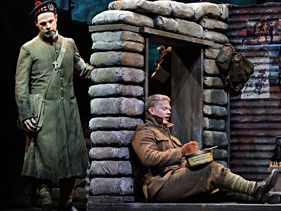 Troy Cook (left) as Father Palmer and John Robert Lindsey as Jonathan Dale in the Minnesota Opera production of <em>Silent Night</em>, which won composer Kevin Puts the Pulitzer Prize for music.