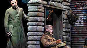 Troy Cook (left) as Father Palmer and John Robert Lindsey as Jonathan Dale in the Minnesota Opera production of Silent Night, which won composer Kevin Puts the Pulitzer Prize for music.