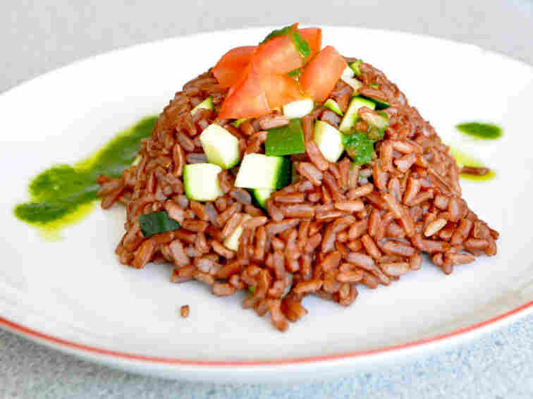 Camargue Red Rice And Basil Oil