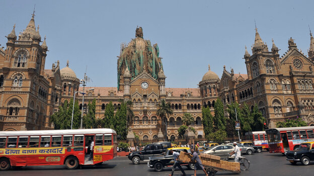 Mumbai's Chattrapathi Shivaji Terminus railway station, one of the most famous locales in the city and a site attacked by terrorists in May 2010.
