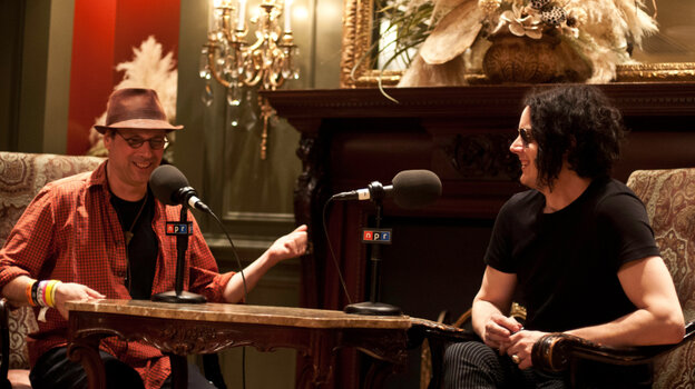 All Songs Considered host Bob Boilen and Jack White in conversation at the historic Driskill Hotel in Austin, Texas.