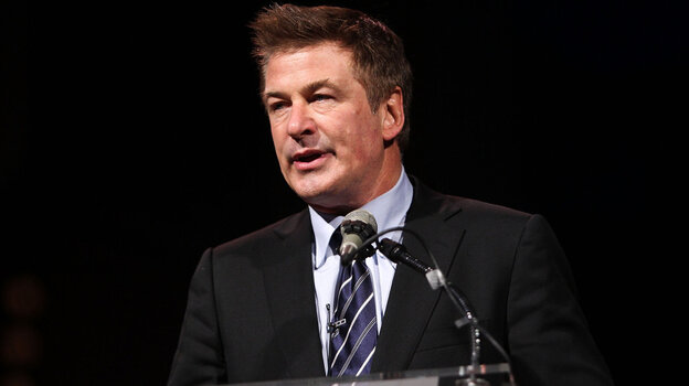 Actor Alec Baldwin speaks at the Kennedy Center for the Performing Arts in Washington, D.C., on Monday.