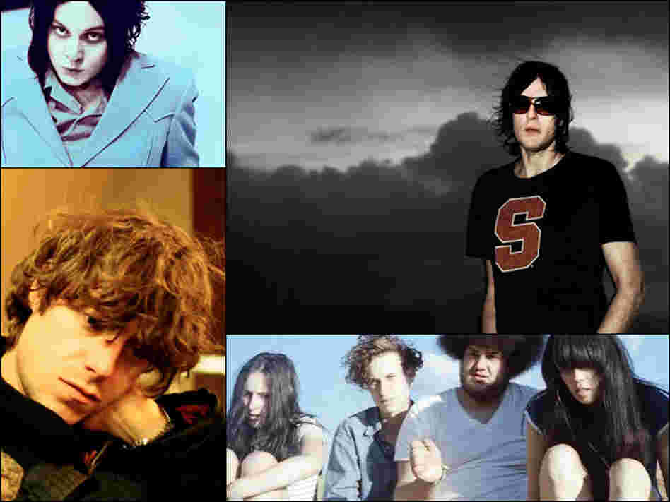 Clockwise from upper left: Jack White, Spiritualized, Yuck, White Fences' Tim Presley.