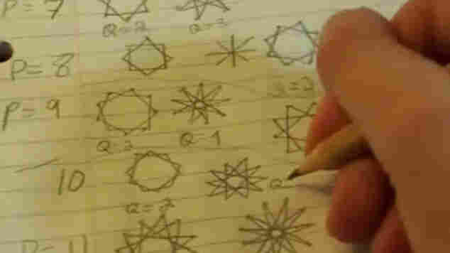 """A frame from """"Doodling in Math Class: Stars"""""""