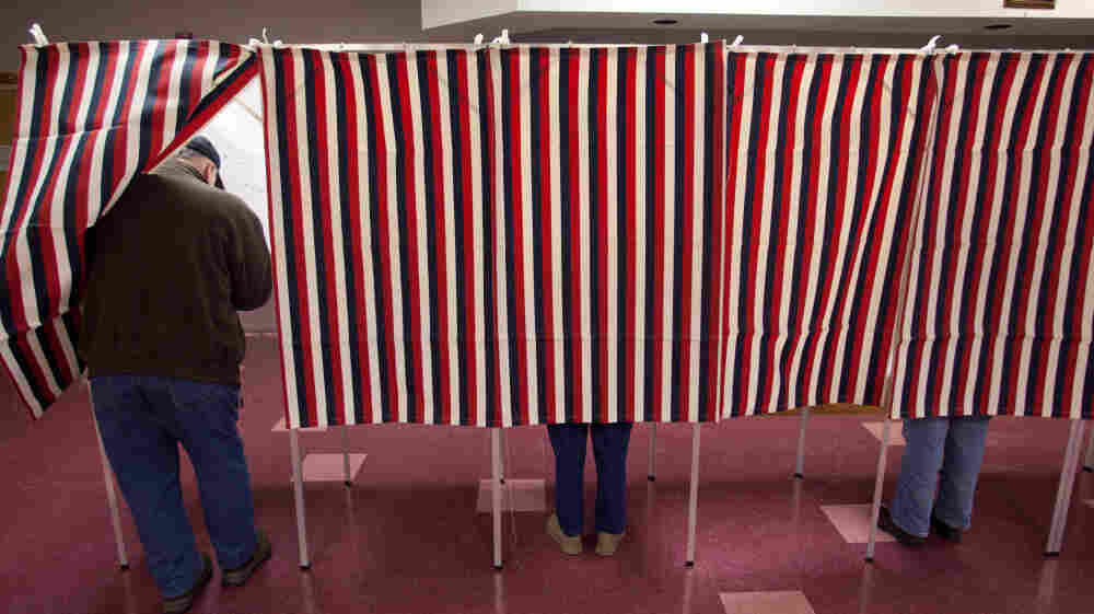Voters in Jaffrey, N.H., participate in the Jan. 10 New Hampshire primary. As the 2012 presidential race progresses, the outcome could rest on how the campaigns of President Obama and Mitt Romney reach still-undecided voters.