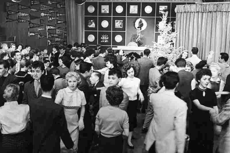 Dancing teens flock to Clark's American Bandstand after he took it national from Philadelphia's WFIL-TV in 1957.