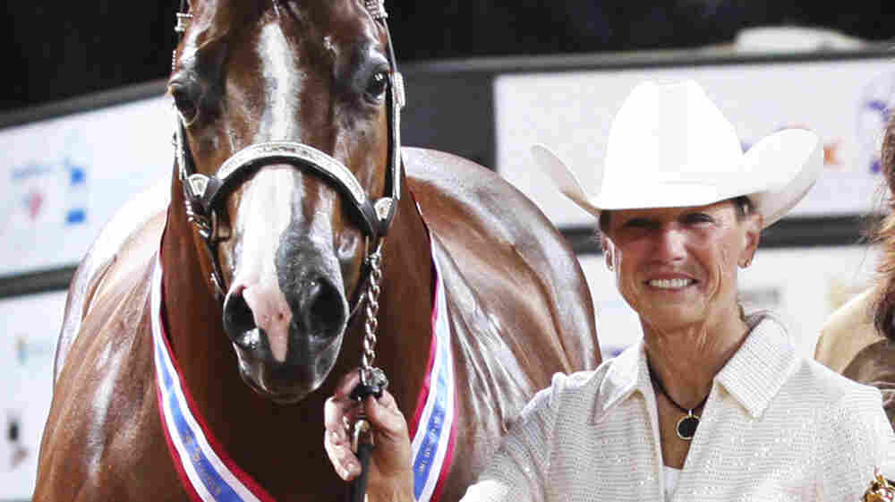 This November 2011 photo provided by The American Quarter Horse Journal shows Rita Crundwell of Dixon, Ill., at the 2011 American Quarter Horse Association World Championship Show in Oklahoma City. FBI agents arrested Crundwell, the Dixon comptroller, on charges she misappropriated more than $30 million since 2006 to finance a lavish lifestyle.