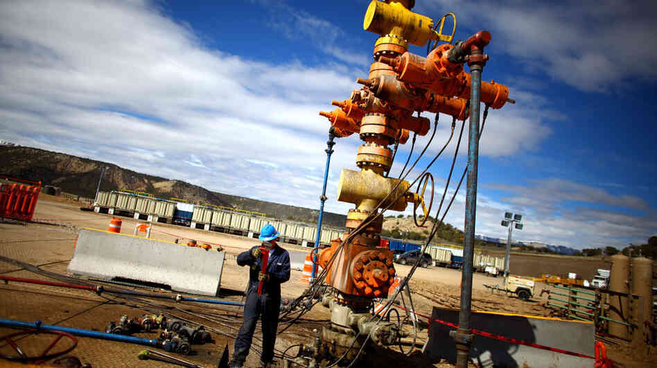 Oil and natural gas drillers use equipment like this to separate the liquid, gas and sand that come out of wells at the beginning of hydraulic fracturing operations.