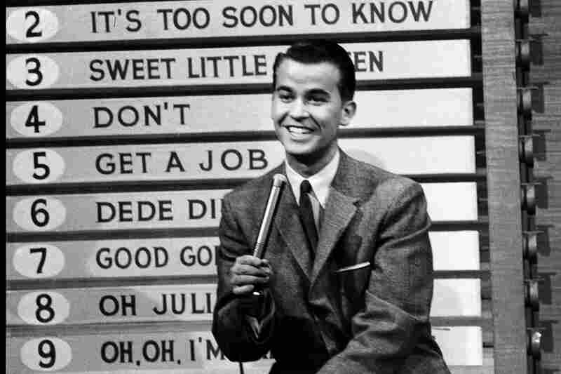 Pop culture icon Dick Clark died Wednesday at age 82. He started his career as a college disc jockey and went on to shape the way America viewed music, TV game shows and New Year's Eve. Here, he hosts American Bandstand in 1958.