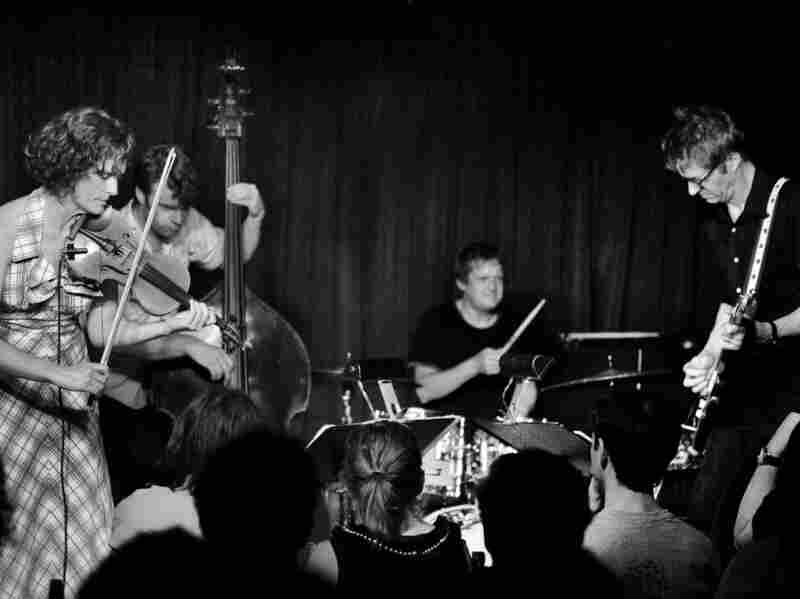 Jenny Scheinman's (left) quartet represents players raised on and used to playing all kinds of music.