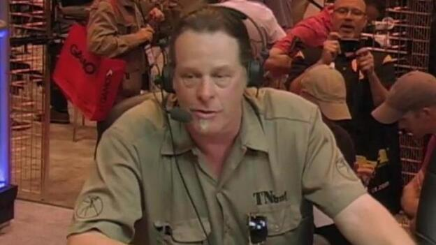 Ted Nugent, during his appearance at the NRA convention over the weekend in St. Louis. (NRA Videos)