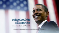 President Obama's re-election campaign has released four new Spanish-language ads, each ending with the phrase: