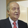 Spain's King Juan Carlos prepares to leave a hospital in Madrid on Wednesday. Spain's King Juan Carlos says he is sorry for having gone on African elephant-hunting trip.