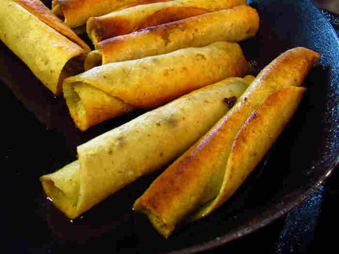 Cielito Lindo's famous taquitos are made fresh to order at the well-known taco stand in downtown Los Angeles.