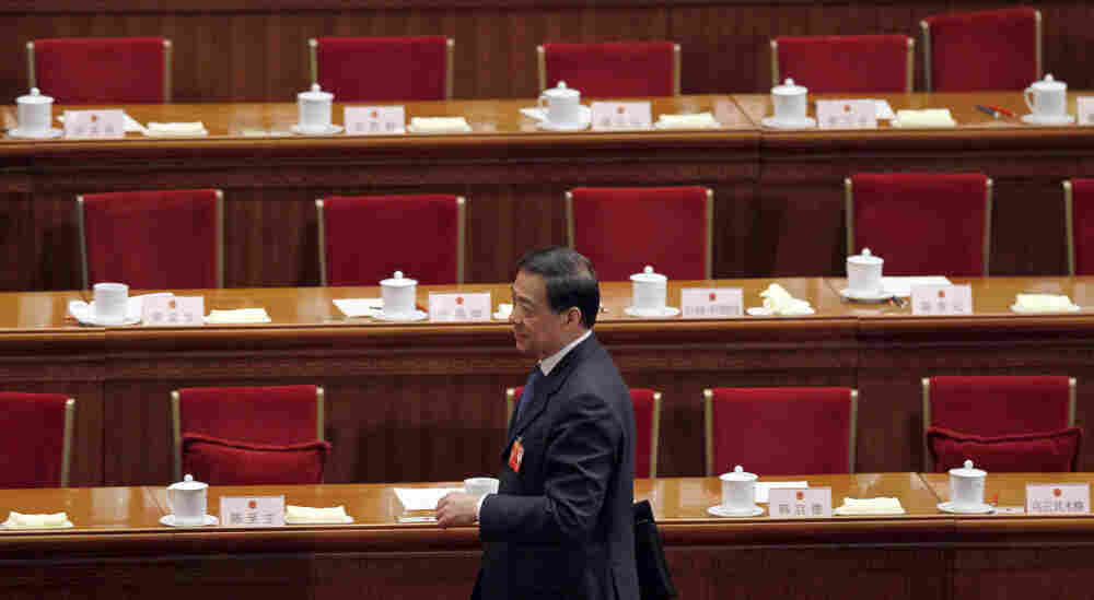 Chongqing party secretary Bo Xilai attended a plenary session of the Na