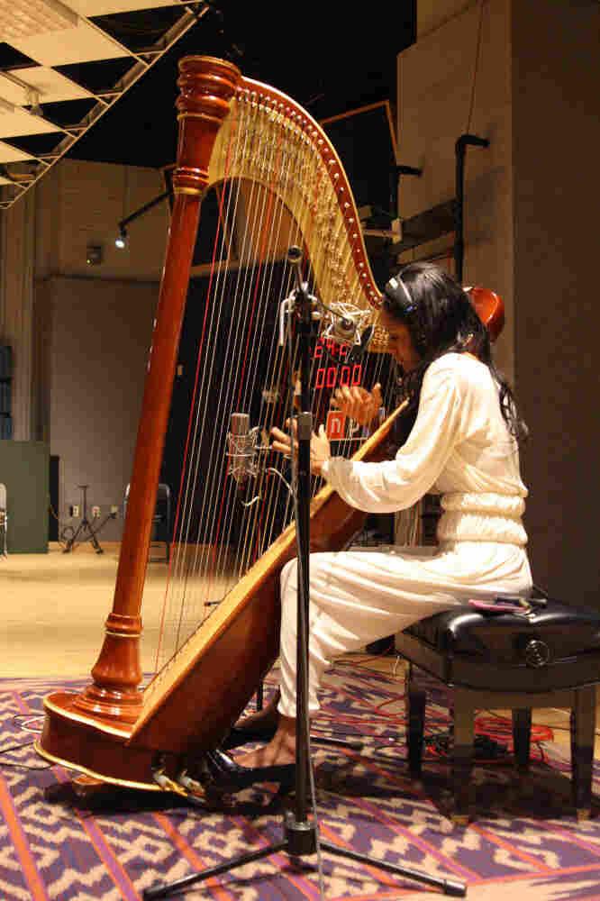 Rashida Jolley at NPR's performance studio.