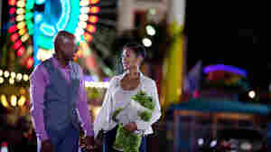 Mya (Meagan Good), while dating Zeke (Romany Malco), follows the do's and don't's of dating advice from comedian Steve Harvey's real-world self-help book Act Like a Lady, Think Like a Man.