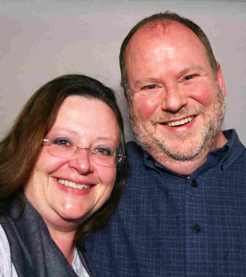 "Lisa Combest and James Hanson-Brown spoke about their marriage — and their divorce — at StoryCorps in Houston. ""Our relationship really has helped me define unconditional love,"" Lisa says."