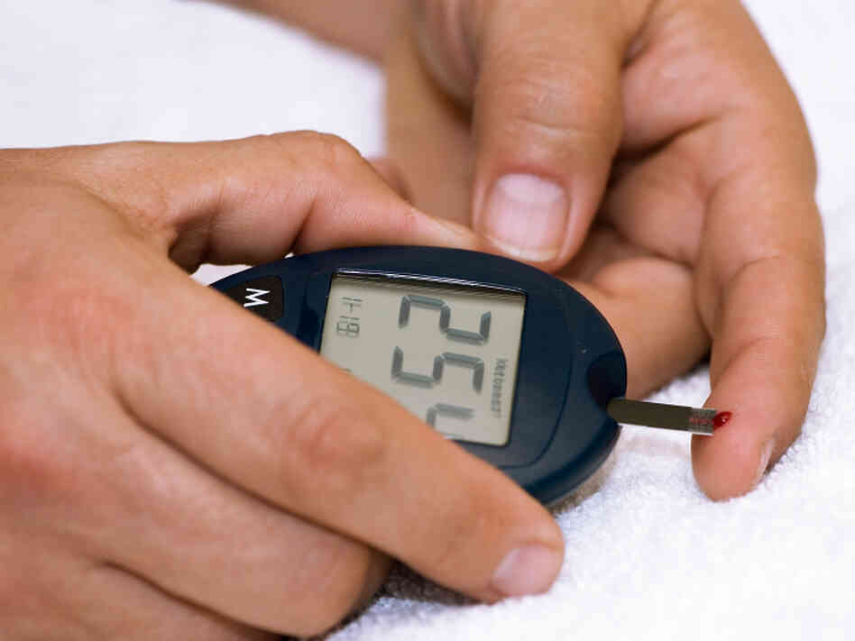 A person with diabetes may need to test blood glucose levels up to 10 times a day.